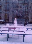 Зима 2006 г. Первый снеговик
